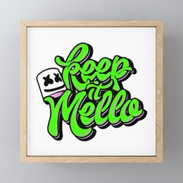 Keep it Mello Green Framed Mini Art Print