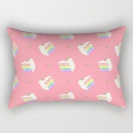 Watercolor Rainbow Cake Rectangular Pillow