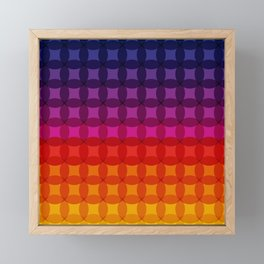 Retro Rainbow Color Gradient Framed Mini Art Print