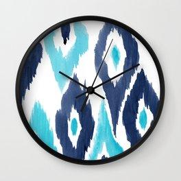 Malibu Ikat Wall Clock