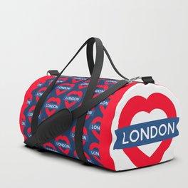 London Underground - Heart Duffle Bag