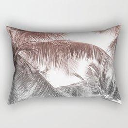 High palms on a tropical beach Rectangular Pillow