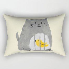 A cat that swallows a bird Rectangular Pillow