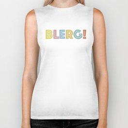 BLERG! in color Biker Tank
