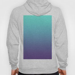 Ultra Violet Teal Ombre Gradient Pattern | Trendy color of the Year 2018 Hoody