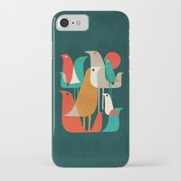 birds iPhone & iPod Cases featuring Flock of Birds by Picomodi