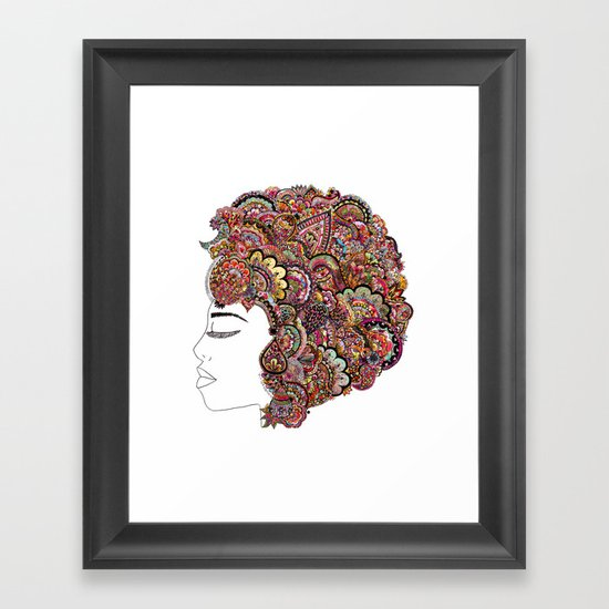 Her Hair - Les Fleur Edition Framed Art Print