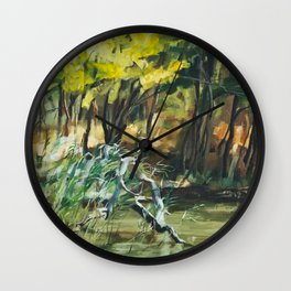 River In Summer Wall Clock