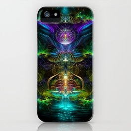Neon - Fractal - Visionary Art - Manafold Art iPhone Case