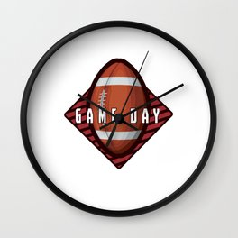 Gameday Rugby Union Football Contact Team Sports Rugger Gift Wall Clock