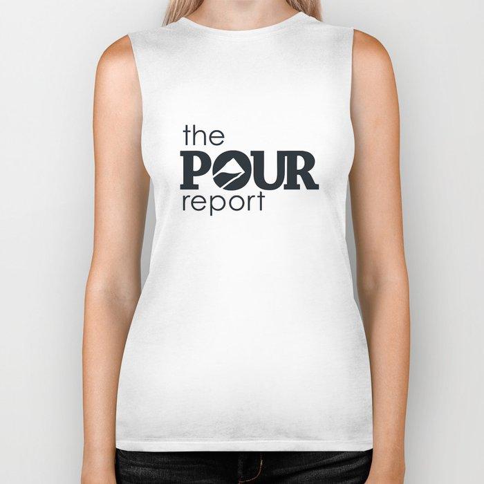 The Pour Report (Black) Biker Tank