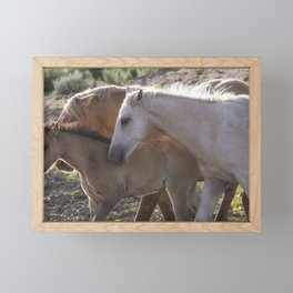 Traveler with Father and Younger Brother Framed Mini Art Print