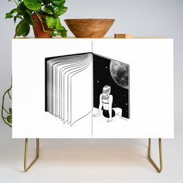 Reading is Dreaming with Your Eyes Open Credenza