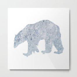 Polar bear North Pole climate ice melting polar bear Metal Print