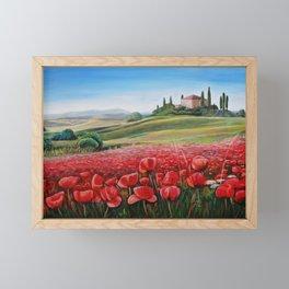 Italian Poppy Field Framed Mini Art Print
