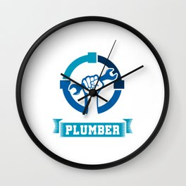 Keep Your Pipe Clean Funny Plumber Plumbing Pipe Repair Piping Pipes Gift Wall Clock