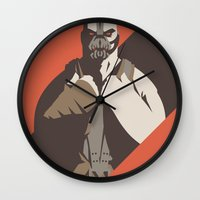 bane Wall Clocks featuring Bane by Florey