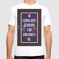 Not Being Afraid to Fail White MEDIUM Mens Fitted Tee