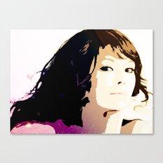 WOMAN AMONG THE STARS Canvas Print