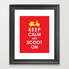 Keep Calm and Scoot On (For the Love of Scooters) Framed Art Print