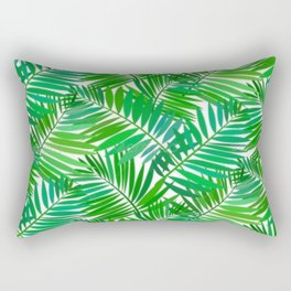 green leafs cool modern home trends Rectangular Pillow