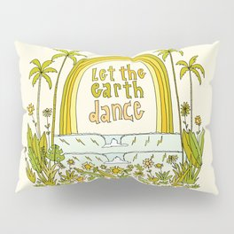 let the earth dance // retro surf art by surfy birdy Pillow Sham