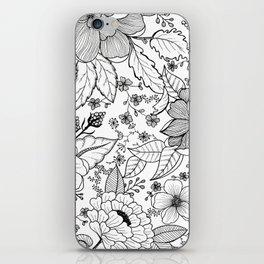Black + White iPhone Skin