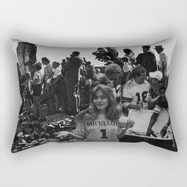 World War II Tailgate Party - Vintage Collage Rectangular Pillow