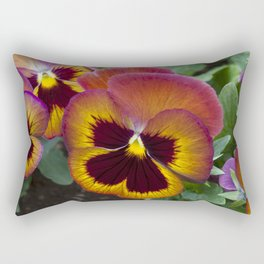 Pansy Painted Rectangular Pillow