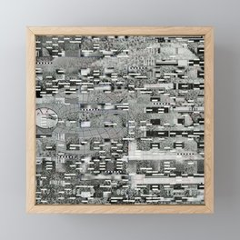 Highly Resolved Ghost (P/D3 Glitch Collage Studies) Framed Mini Art Print