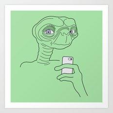 Selfie.t. Art Print