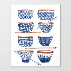 Japanese cups Canvas Print