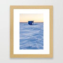 The fishing cabin Framed Art Print