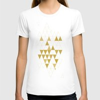 gold T-shirts featuring My Favorite Shape by Krissy Diggs
