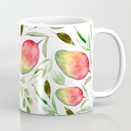 Watercolor Mangos | Fruit | Greenery | Pattern Coffee Mug