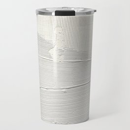 Relief [1]: an abstract, textured piece in white by Alyssa Hamilton Art Travel Mug