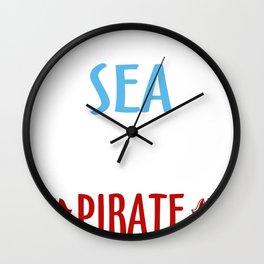 pirate corsar ship gift buccaneer idea Wall Clock