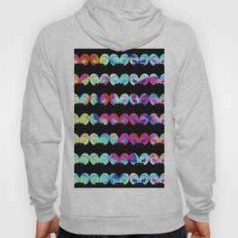 Colorful easter eggs and rabbits Hoody