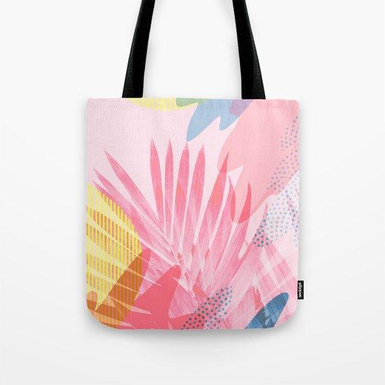 Pastel Jungle Tote Bag