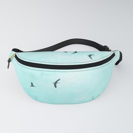 GEESE FLYING - TURQUOISE Fanny Pack