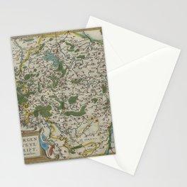 Vintage Map - Ortelius: Theatrum Orbis Terrarum (1606) - Luxembourg Stationery Cards