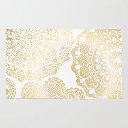 Mandala on Gold Rug