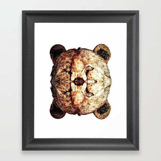 Two-Headed Bear Framed Art Print