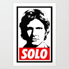 Obey Han Solo (solo text version) - Star Wars Art Print
