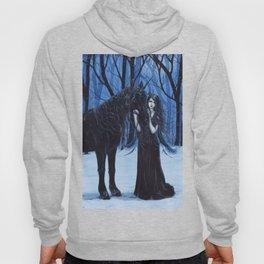 Midnight Travelers Gothic Fairy and Unicorn Hoody