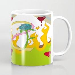 Burning love and blue rose Coffee Mug