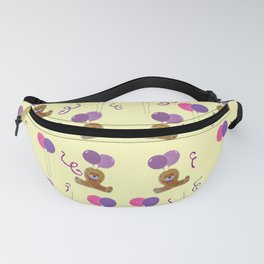 Teddy for girls with balloons Fanny Pack