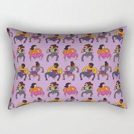 Booty Butt Cheeks Purple Rectangular Pillow