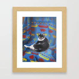 SASSY CAT Framed Art Print