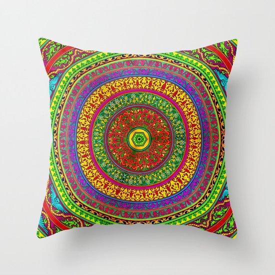 Mandala Pop Palace 2 Throw Pillow